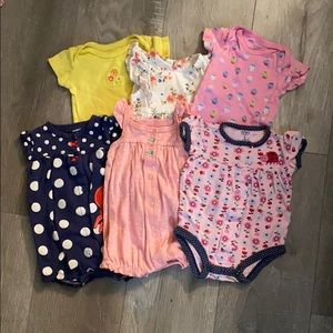 Lot of Summer Onesies/Dresses Size 3 Months